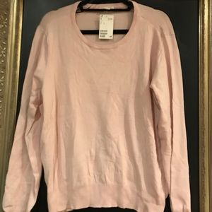 NWT H&M pink sweater - size large